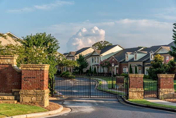 Upscale gated community