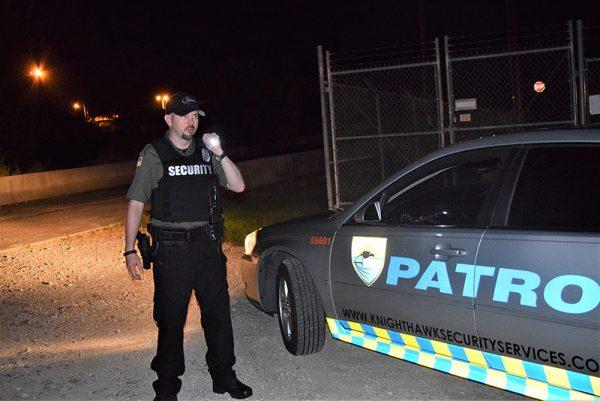 Knighthawk Security Patrol on the job